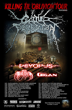 Cattle Decapitation Tour 2009